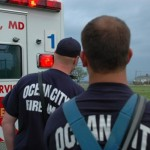 Ocean City Paramedics with Ambulance & Stormy Skies