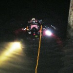 OCMD Paramedic in the Water at Night
