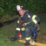 Ocean City Firefighter with Hose
