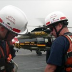 OCMD Paramedics Special Operations in front of Helicopter