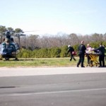 OCMD Paramedics Taking Patient to Helicopter