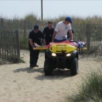 Ocean City Paramedics Working on the Beach
