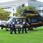 Ocean City Paramedics Loading Pateint into MD Police Helicopter
